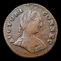 1787 ETLIB INDE Small Head Right Connecticut Copper, BN