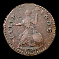 1787 ETLIB INDE Small Head Right Connecticut Copper, BN