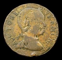 1786 Vermont Copper, Baby Head, BN