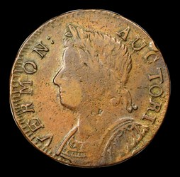 1786 Vermont Copper, Bust Left, BN