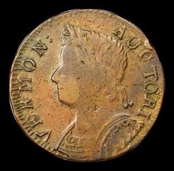 1786 Vermont Copper, Bust Left, BN