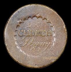 Albany Church Penny, No D, BN