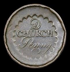 Albany Church Penny, D Above CHURCH, BN