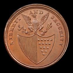1795 Washington Liberty & Security Penny, ASYLUM Edge, BN