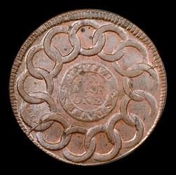 1787Fugio Cent, UNITED Above, BN