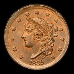 1839 1C Silly Head, N-9, MS, BN