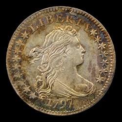 1797 10C 16 Stars, JR-1, MS