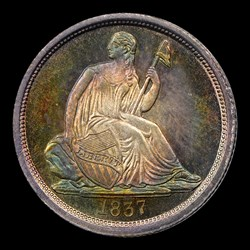 1837 No Stars, Large Date
