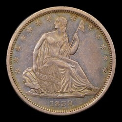 1839 50C NO DRAPERY