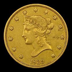 1839/8 $10 Large Letters, MS