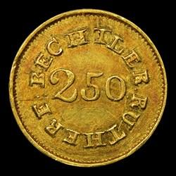 1837-42 C. Bechtler Quarter Eagle, 64G. 22C.