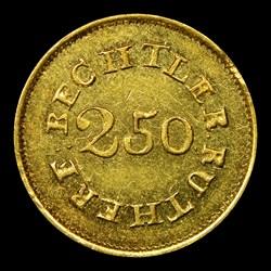 1837-42 C. Bechtler Quarter Eagle, 70G. 20C.