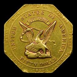 HUMBERT $50 RE 1852 887