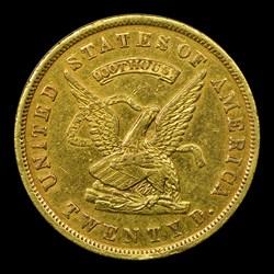 1853 Assay Office Twenty Dollar, 900 Thous.