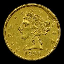 1850 Baldwin Five Dollar