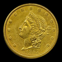 1855 Kellogg & Co. Twenty Dollar