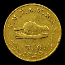 1849 Oregon Exchange Co. Five Dollar