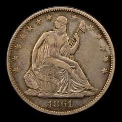 1861-O 50C CSA Obverse, MS