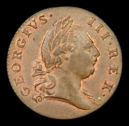 1773 Virginia Halfpenny, Period, BN