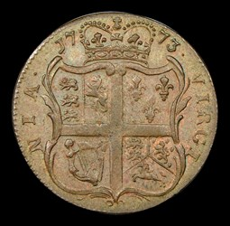 1773 Virginia Halfpenny, Period, BN
