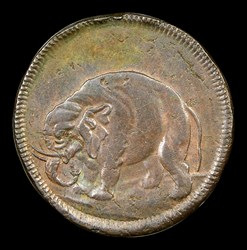 London Elephant Token, Thick Planchet, BN