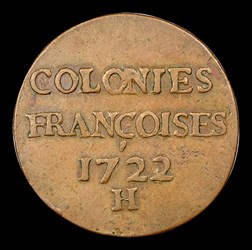 1722/1-H 9 Den French Colonies, MS