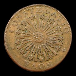 1785 Nova Constellation Copper, Blunt Rays, BN