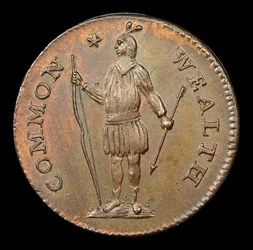 1787 Massachusetts Cent, Arrows in Left Talon, BN