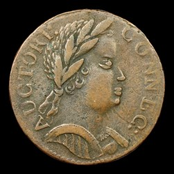 1785 Connecticut Copper, African Head, BN