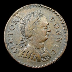 1786 Connecticut Copper, Small Head Right, ETLIB INDE, BN