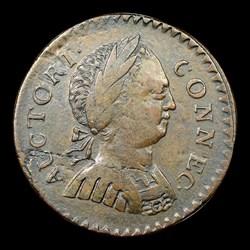 1786 Connecticut Copper, Small Head Right, ETLIB INDE, BN