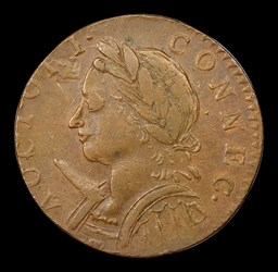 1787 Connecticut Copper, Horned Bust, BN