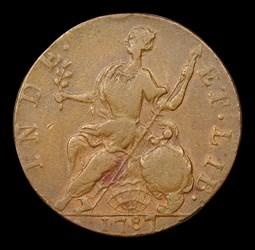 1787 Connecticut Copper, Horned Bust, BN