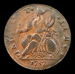 1787 Connecticut Copper, Mailed Bust Left, BN