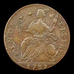 1787 Connecticut Copper, Draped Bust Left, MS, BN