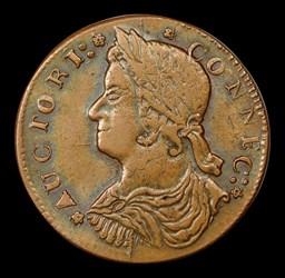 1787 Connecticut Copper, Draped Bust Left, MS, BN