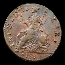 1788 Connecticut Copper, Mailed Bust Right, BN