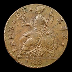 1788 Connecticut Copper, Draped Bust Left, BN