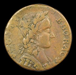 1787 COPPER Nova Eborac, Seated Right, BN