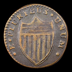 1786 New Jersey Copper, Narrow Shield, BN