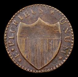 1786 New Jersey Copper, Wide Shield, BN