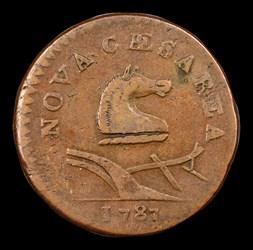 1787 New Jersey Copper, Small Planchet, Plain Shield, MS, BN