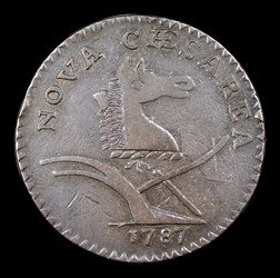 1787 New Jersey Copper, PLURIBS, BN