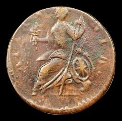 1787 Vermont Copper, BRITANNIA, BN