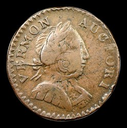 1787 Vermont Copper, Bust Right, BN