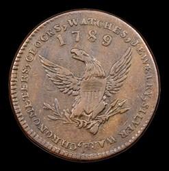 1789 Mott Token, Thin Planchet, Plain Edge, BN