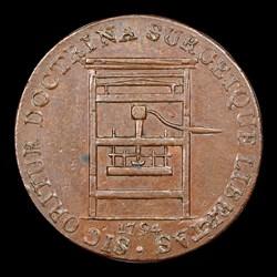 1794 TOKEN Franklin Press, BN