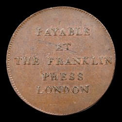 1794 TOKEN Franklin Press, BN