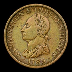 1783 COPPER Washington Draped Bust, No Button, MS, BN