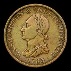 1783 COPPER Washington Draped Bust, No Button, MS, BN